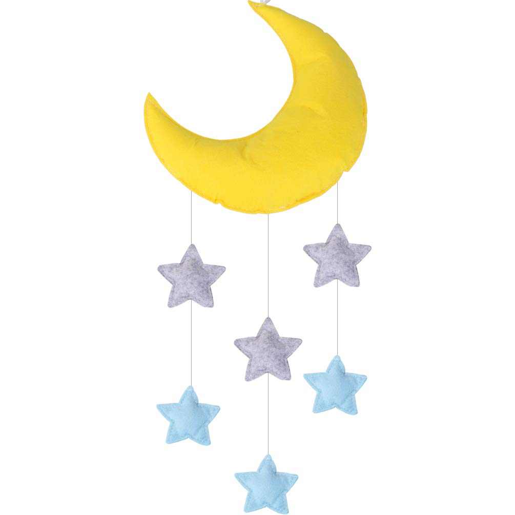 Baby Mobile for Crib Moon and Stars Baby Nursery Ceiling Crib Mobile Kids Room Hanging Decor Vesil 1