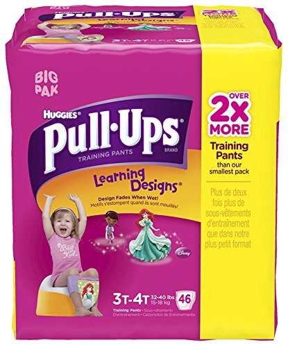 Huggies Pull-Ups Training Pants - Learning Designs - Girls - 3T-4T - 46 ct