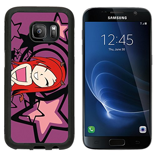 [MSD Premium Samsung Galaxy S7 Aluminum Backplate Bumper Snap Case devil girl sexy cartoon background in vector format very easy to edit IMAGE] (Sexy Devil Lady Costumes)