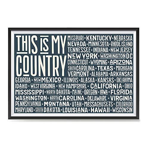 EzPosterPrints - USA States Flags Series Posters - Poster Pr