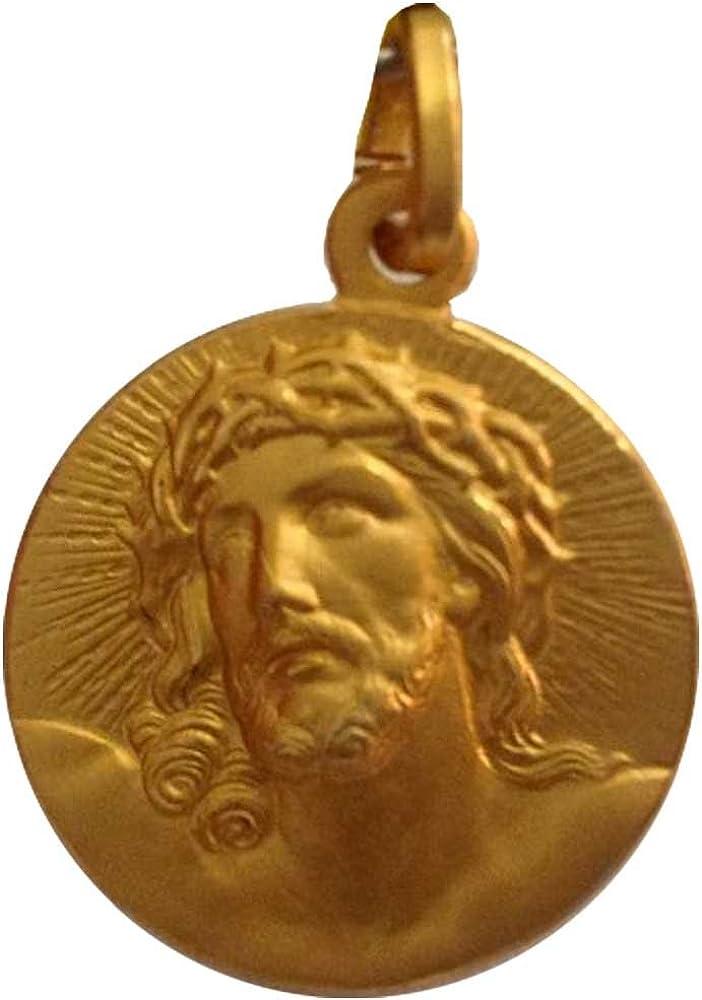 /925/Sterling Silver Ecce Homo Medal/ /Gold Plated M/édaille Ecce Homo en argent 925/plaqu/é or/