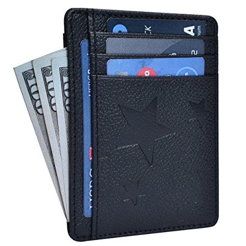 RFID Front Pocket Leather Wallet for Men - Blocking Genuine