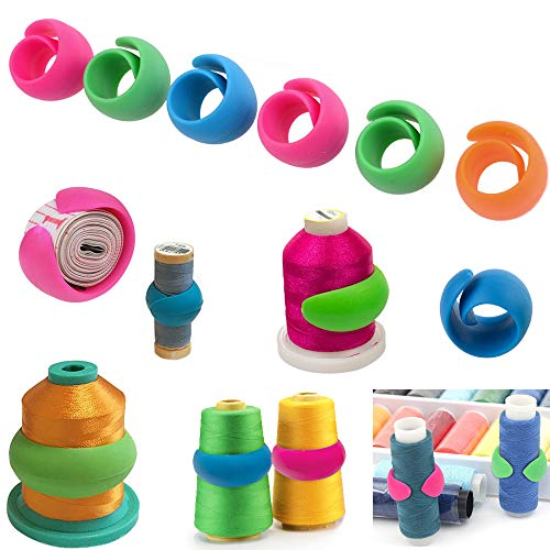 12 Pcs Peels Thread Spool Huggers to Prevent Thread Unwinding and Keep Thread Tails Under Control