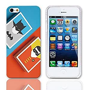 Mini - Cartoon Design Hard Case with 3-Pack Screen Protectors for iPhone 5/5S