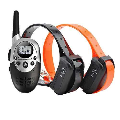Dog Training Collar,Banne 1100yards Range Rechargeable and Waterproof E-Collar Trainer(Two Dogs)