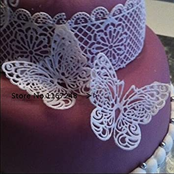 Amazon Com Joinor Butterfly Shape Silicone Mold Lace Cake Molds