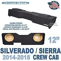 Chevy Silverado & GMC Sierra Crew Cab 12 Subwoofer Enclosure