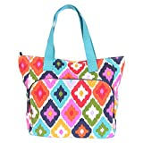 French Bull Canvas Tote Bag, Medium 18.5'' Fashion Gym/Carry-all with Yoga Mat Carrier