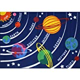 "LA Rug Solar System Rug 5'3"" x7'6"