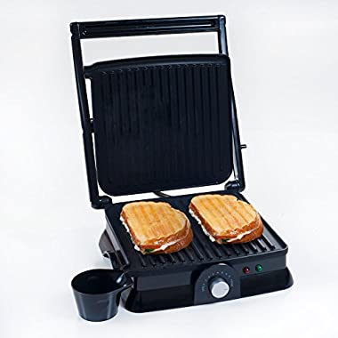 Chef Buddy 82-SW73 Non-Stick Grill and Panini Press, Large