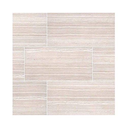 CHARISMA WHITE TILE CERAMIC 12 in. X 24 in. 8 Pieces Per Box