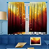 UHOO2018 2 Panels Room Darkening Blackout Curtains, Movie or theatre curtain,Living Room Bedroom Window Drapes,108''W By 63''L Pair.