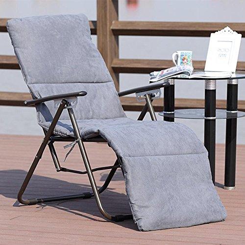 Silla plegable Silla reclinable de Verano Silla de Oficina Silla de Ocio Silla de salón Silla de Playa con balcón (Color :...