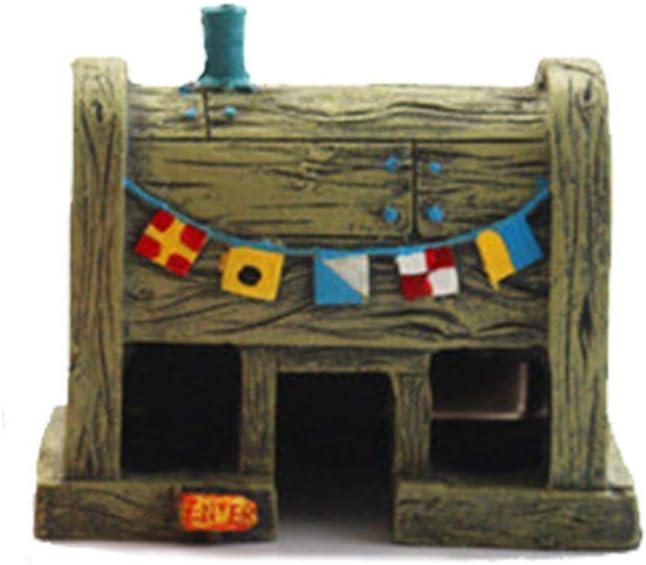 Janhiny Squarepants Ornamenti per acquari Accessori per acquari Krusty Krab Decorazione sicura per Serbatoi d'Acqua Dolce e salata
