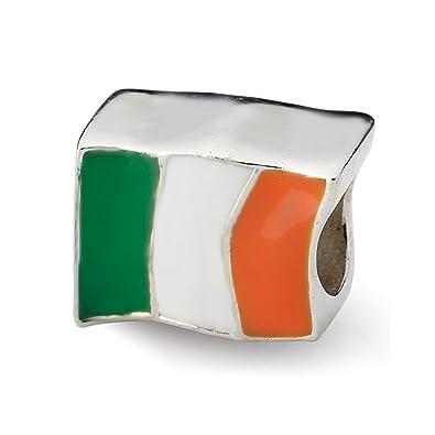 Los reflejos plata de ley Bandera Irlanda Perla: Amazon.es ...