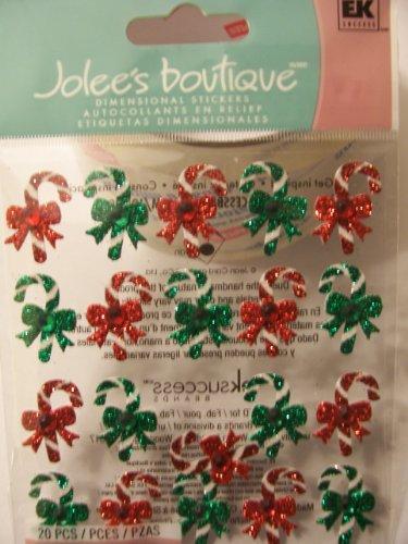 EK Success Jolee's Boutique Le Grande Themed Ornate Stickers - Candy Cane Repeats (20 Pieces)