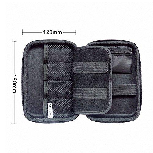 Elvam EVA Shockproof Waterproof Portable Hard Drive Case Bag / Cable Case Bag / USB Flash Drive Case Bag / Power Bank Case Bag / GPS Case and Digital Camera Case - Blue by Elvam (Image #3)