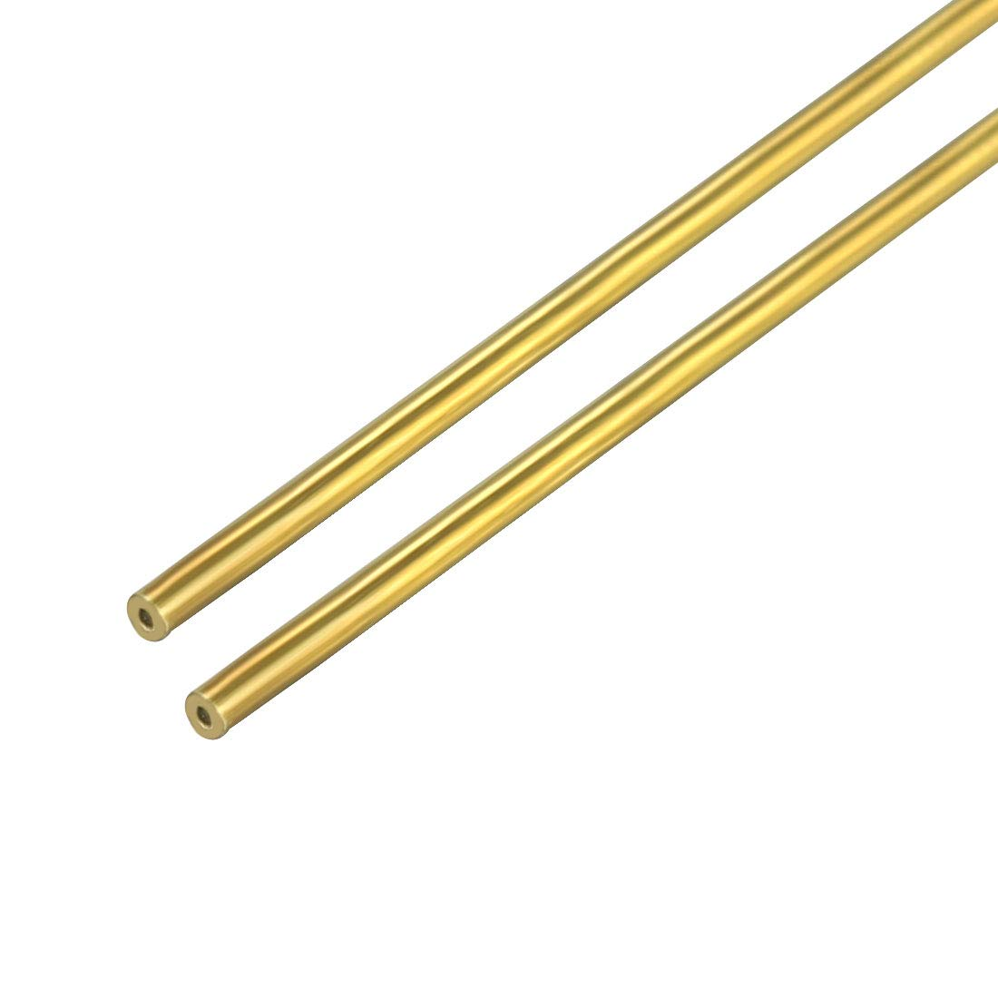 uxcell 8mm x 12mm x 500mm Brass Pipe Tube Round Bar Rod for RC Boat