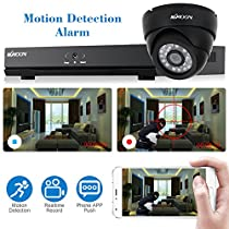 KKmoon 8 Channel 960H D1 CCTV Network DVR HDMI P2P Cloud Network Onvif Digital Video Recorder + Indoor 24 LEDS Dome Camera + BNC Video Power Siamese Cable