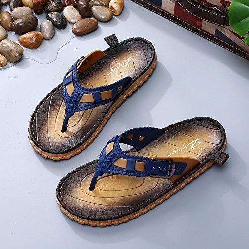 Zapatillas los azul Pasador Men's Cool fankou Calzado de Zapatillas Sandalias Estudiantes Verano de Antideslizante de Playa El Varones Casual Que Exterior pd7xARvx