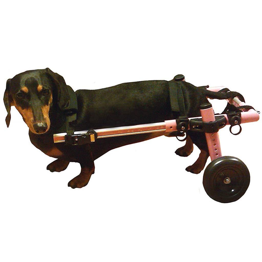 Laoyi Silla De Ruedas para Perros Patas Traseras Silla De Ruedas para Discapacitados para Mascotas Silla De Ruedas Aleación De Aluminio para Mascotas ...