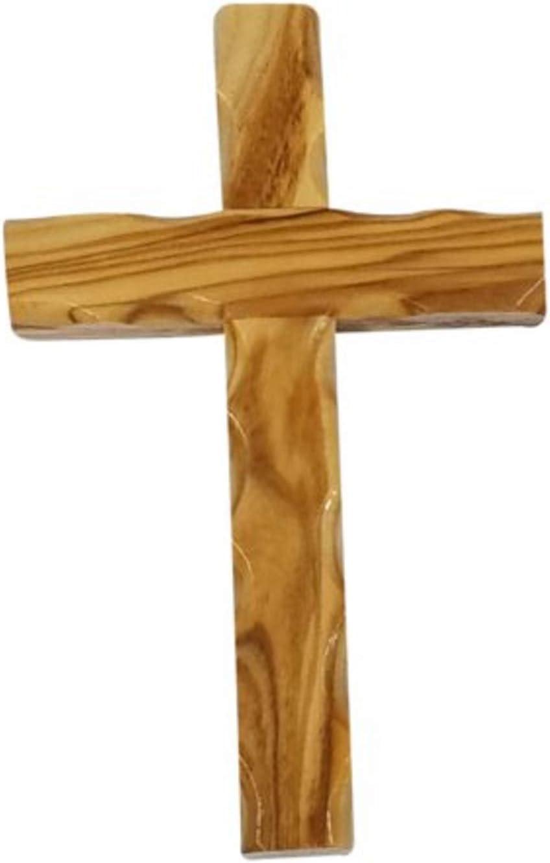 Bethlehem Gifts TM Wall Hanging Wood Cross 12cm Olive Wood Wall Cross from Bethlehem