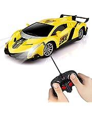 Bazoty Voiture Télécommandée, Jouet Enfants RC Voiture avec Rotation à 360 degrés LED Lumière 1/24 Échelle Cars Vehicule Modèle Voiture Electrique Cadeaux pour Garçons Filles Jeux Intérieur Extérieur