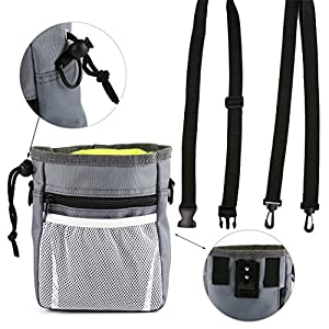 Dog Treat Bag, Pet Dispenser Snack Reward Waist Bag, Pet Treat Bag, Gift Bags for Dog Food Storage, Carrier Lunch and… Click on image for further info.