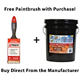 One TIME Red Cedar Wood Stain & Sealer 5 Gallon Size ...