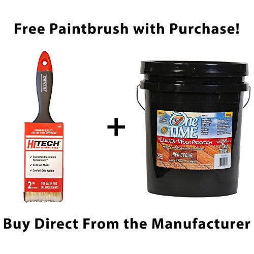 (One TIME Red Cedar Wood Stain & Sealer 5 Gallon Size ... )