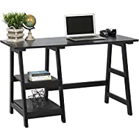 Best Choice Products Home Computer Writing Trestle Desk- Black