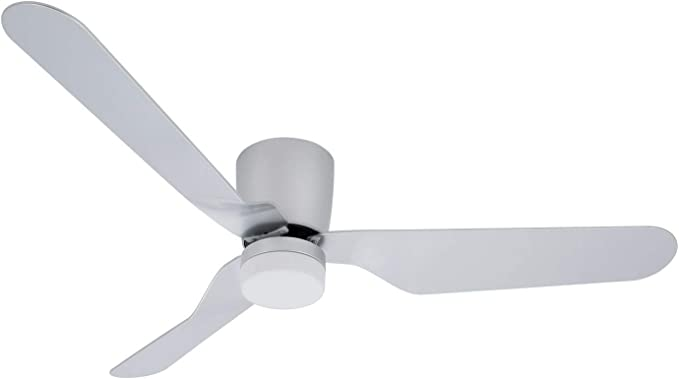 Ventilador de Techo LED Minimal Ultrasilencioso 12W Plata Blanco ...