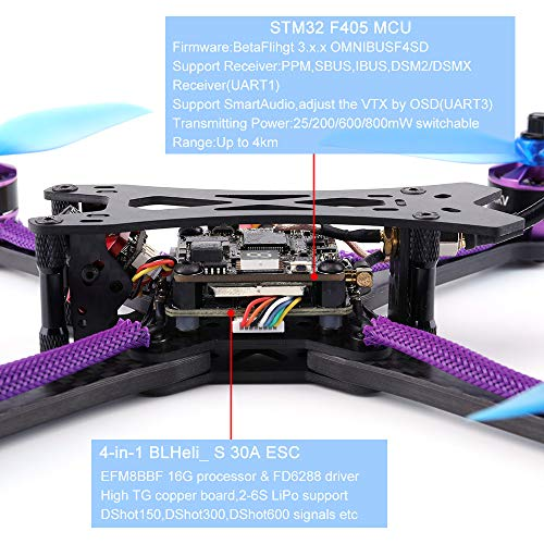 MOZATE Q215MM FPV Racing Drone DIY Assembled 800TVL Motor Frame Kit 5.8G 48CH RC Toys (AS Show, B) by MOZATE (Image #7)
