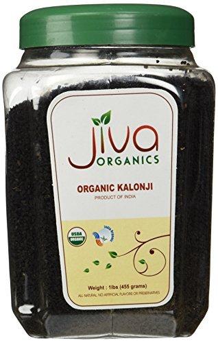 Seeds Nigella (Jiva USDA Organic Raw Black Cumin Seed (Kalonji, Nigella Sativa) 1 Pound Jar)