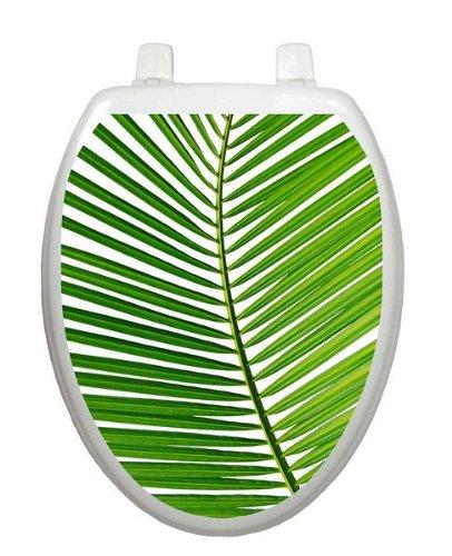 Palm Frond Tattoo TT-1500-O Elongated Beach Ocean Theme Cover Bathroom