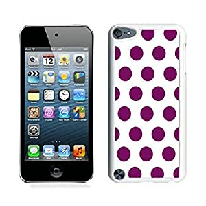 Patten mobile phone,Polka Dot White and Pink ipod touch 5 case white cover
