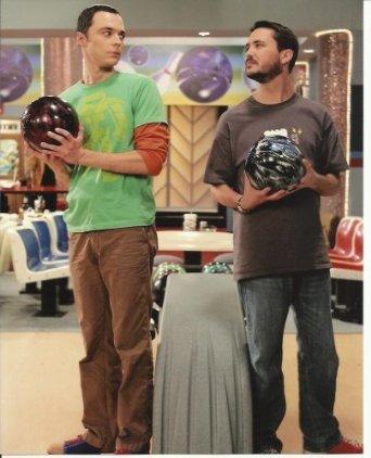 Jim Parsons 8x10 Photo Big Bang Theory Wil Wheaton bowling Photograph