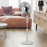 MD Group Pedestal Fan Oscillating 3 Speed 5 Blades 15'' Height Adjustable Remote Control Household Appliance
