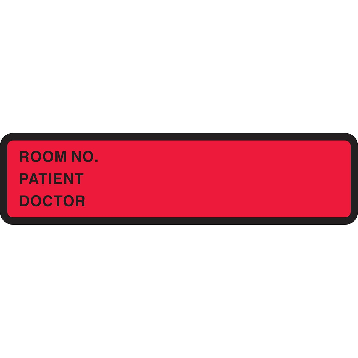 PDC Healthcare 59704802 Binder/Chart Label Paper, Removable Room No. Patient, 5 3/8 x 1 3/8, Red (Pack of 500)