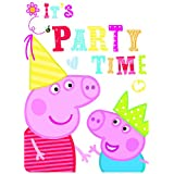 Peppa Pig Party Invitation Cards & Envelopes (6 Pack)