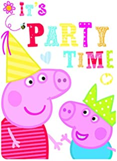 Peppa Pig Party Invites Pack Of 6
