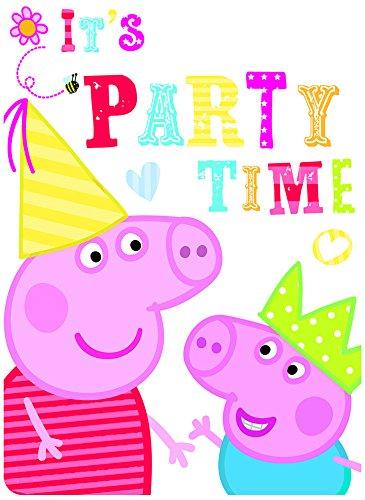 Amazon Com 6 Peppa Pig Red Birthday Party Invitations Invites Plus