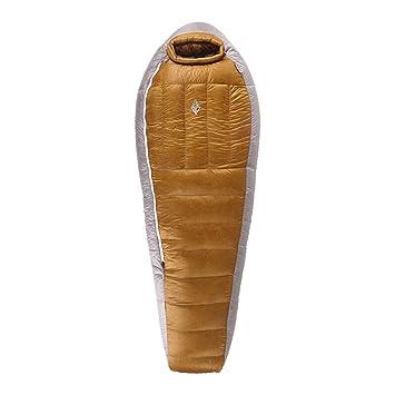 LIUDADA Saco de Dormir - Saco de Dormir para Acampar al Aire Libre Saco de Dormir liviano de Ganso 1.4kg (Color : Oro): Amazon.es: Deportes y aire libre
