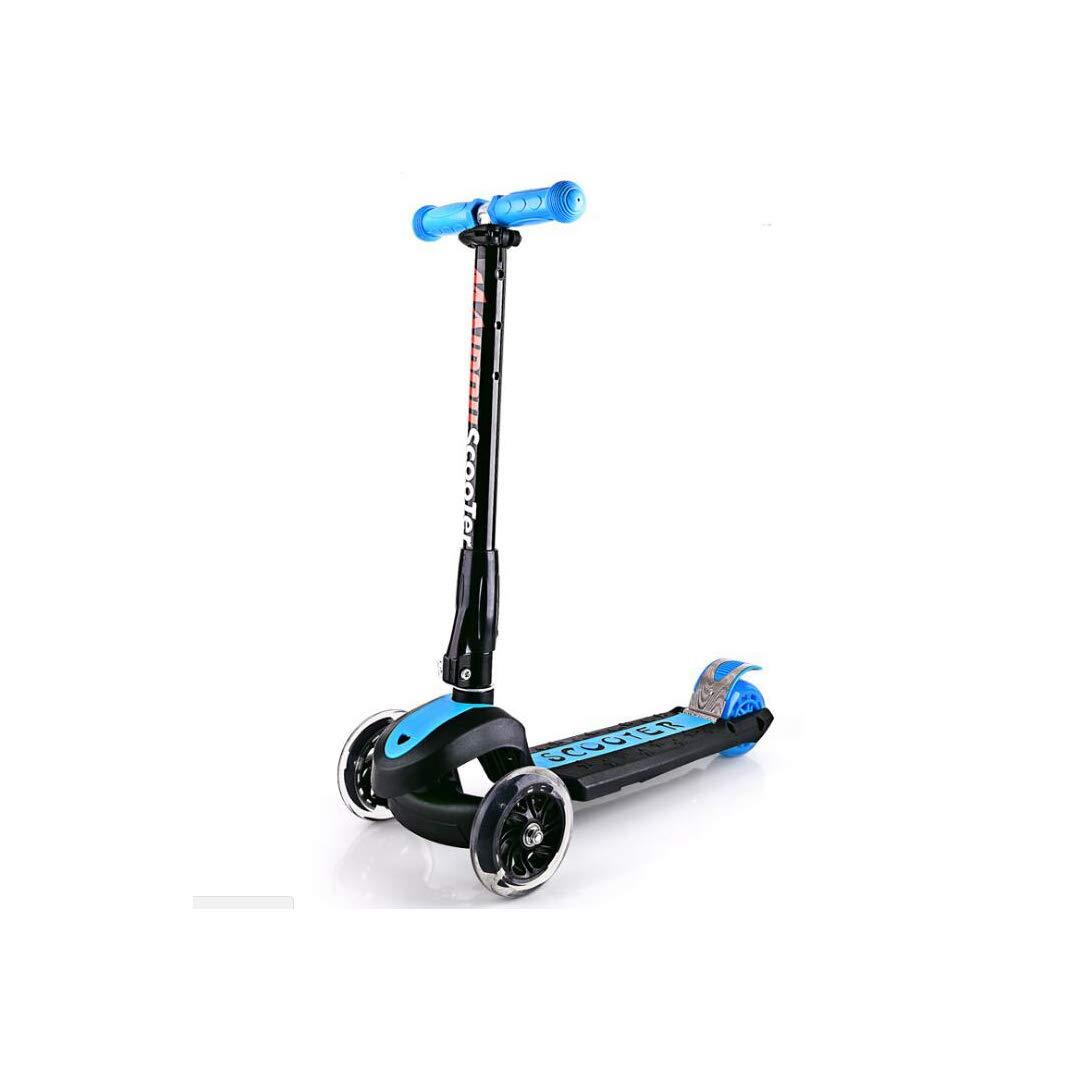 【最新入荷】 TLMYDD スクーター子供三輪折りたたみスクーターフラッシュホイールベビースケート 子供スクーター、58.6×89センチ 子供スクーター (色 : 青) 青) B07NMTX7D5 B07NMTX7D5 青, TROIKA Design Store:733cea73 --- a0267596.xsph.ru