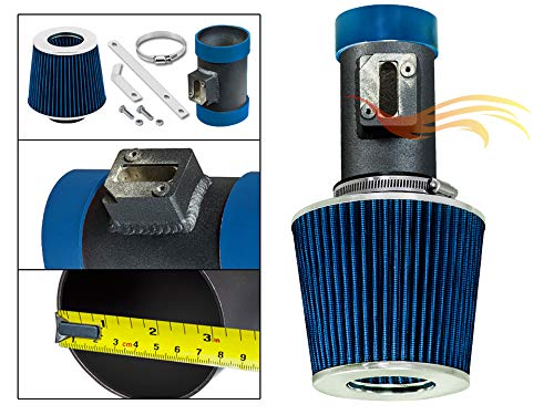S & T Racing Inc Matt Black Piping BLUE COLD AIR INTAKE FOR 04-11 CROWN VICTORIA/GRAND MARQUIS 4.6L V8 STWSI-FD-S22BLB (05 Crown Vic Cold Air Intake)