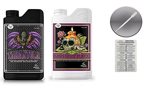 Advanced Nutrients Voodoo Juice and Tarantula 500 ml Bundle with Conversion Chart and 3ml Pipette