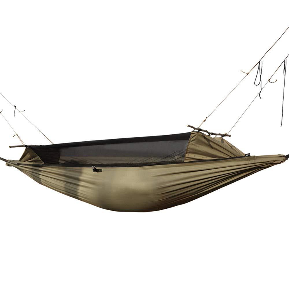 Zyyaxky Hängematte Survivor Army Fan Tragbare Einzelne Camping Ausrüstung Camping Anti-Rollover Mosquito Hängenden Stuhl