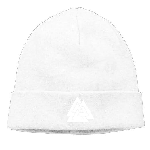 Men Women Knit Cap Cotton Cap Autumn Winter Cap - Valknut Viking Age ... 80bd545a4