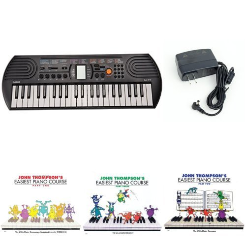 Casio SA77 44 Keys 100 Tones Keyboard bundle with Casio