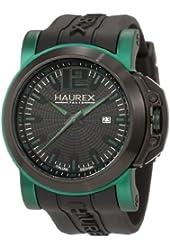 Haurex Italy Men's 1D370UNV San Marco Green Aluminum Black Rubber Watch
